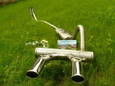 Stainless steel exhaust system (small flange)