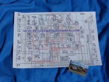 Wiring diagram 2 series, DIN A3 on