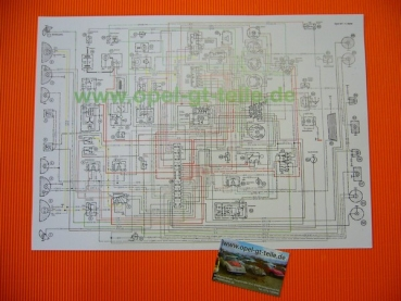 Wiring diagram 1. series, colored, DIN A3